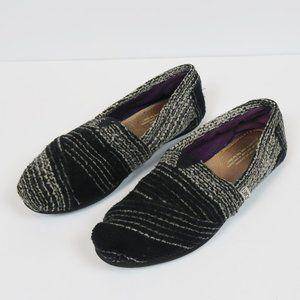 TOMS Alpargata Tweed Black White Flats Slip-On 7